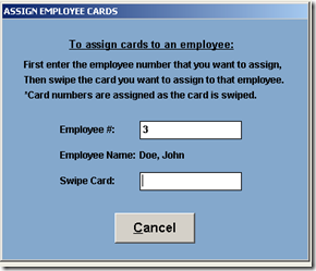 Assign Employee Cards