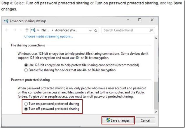 turn off password