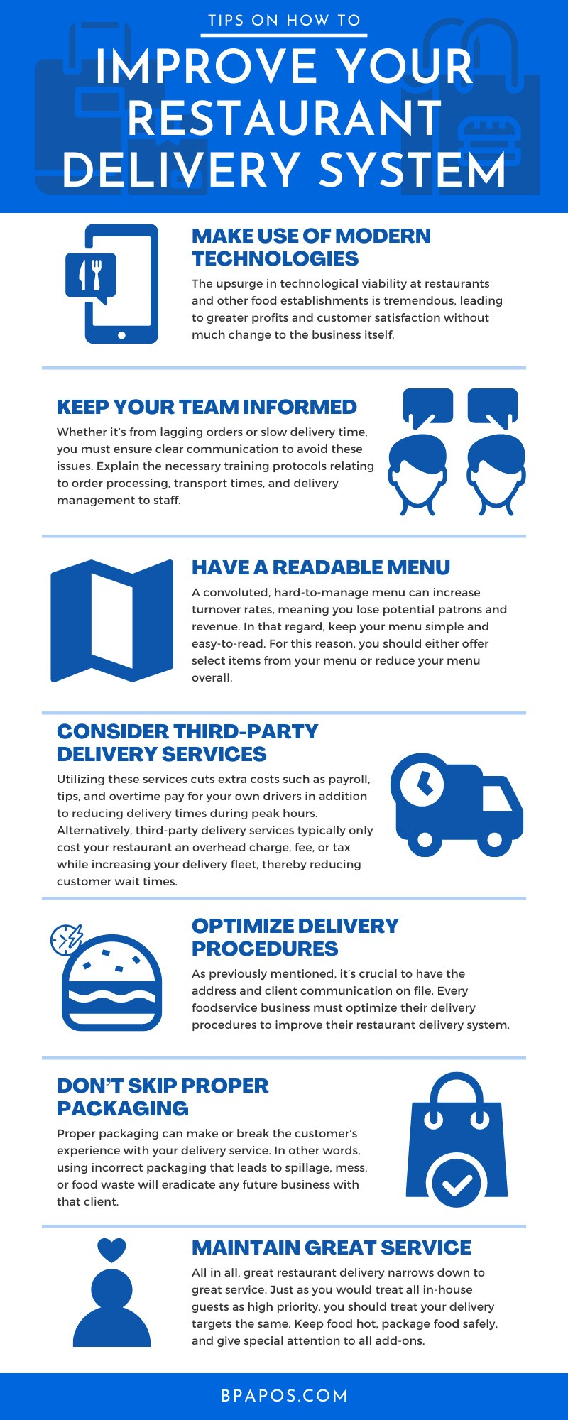 Restaurant delivery infograph