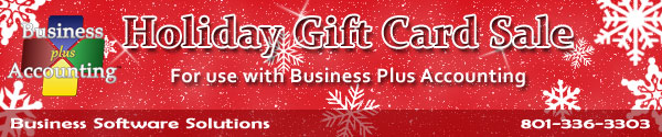 Business Software Solutions - Holiday Gift Card Sale - 801-336-3303